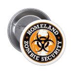 Homeland Zombie Security Skull - Orange 2 Inch Round Button