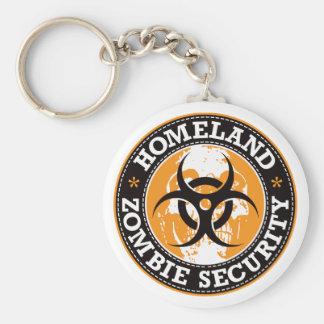 Homeland Zombie Security Skull - Orange Keychain