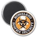 Homeland Zombie Security Skull - Orange Magnet