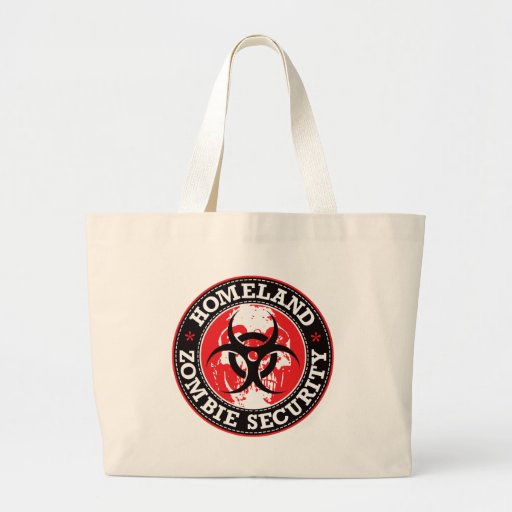 Homeland Zombie Security Skull - Red Bag