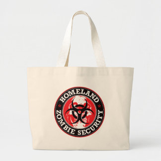 Homeland Zombie Security Skull - Red Large Tote Bag