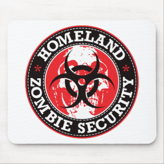Homeland Zombie Security Skull - Red Mouse Pad