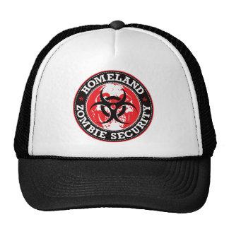 Homeland Zombie Security Skull - Red Trucker Hat