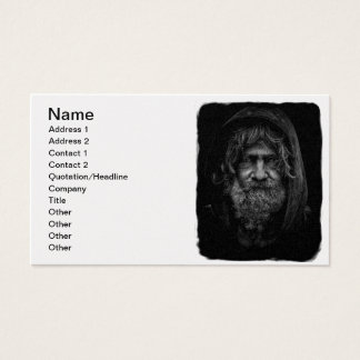 Homeless and Helpless Man in Black and White Business Card