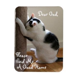 Homeless Cat s Prayer - Magnet Flexible Magnets