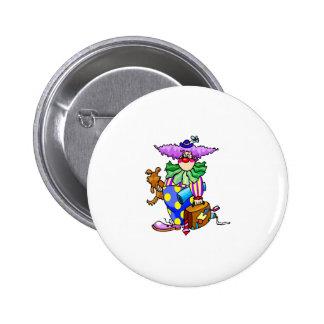 Homeless clown Suitcase Dog Pinback Buttons
