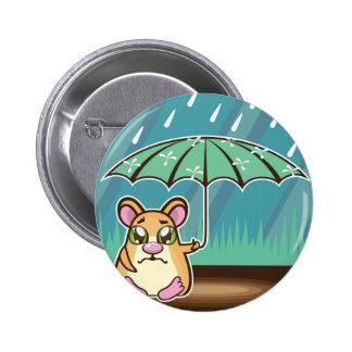 Homeless Hamster cartoon Pinback Button