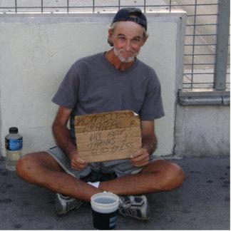 homeless in Vegas Statue