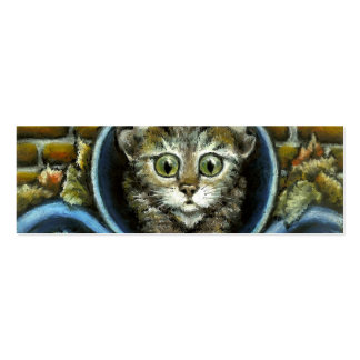 Homeless kitty bookmark (pack of 20) business card template
