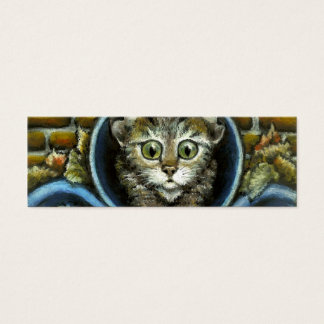 Homeless kitty bookmark (pack of 20) mini business card