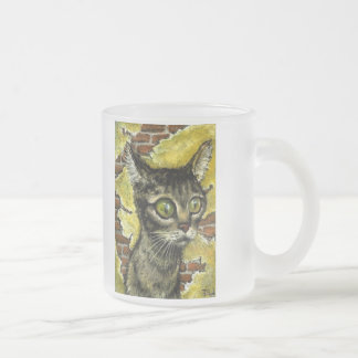 Homeless kitty frosted mug
