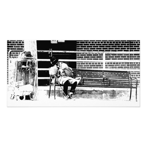 Homeless Man Photo Card