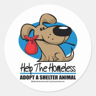 Homeless Pet Classic Round Sticker