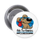 Homeless Pet Pinback Button