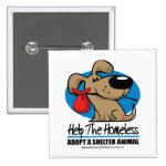 Homeless Pet Pinback Buttons