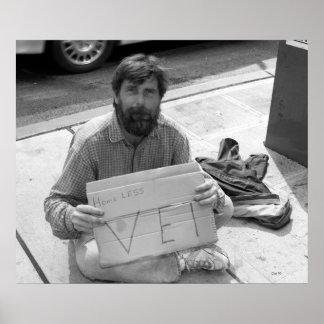 Homeless Vet, Seattle Poster