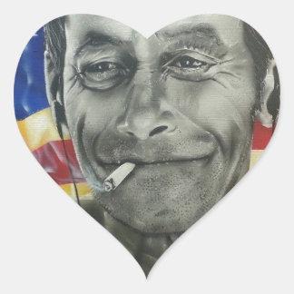 Homeless Veteran Heart Sticker