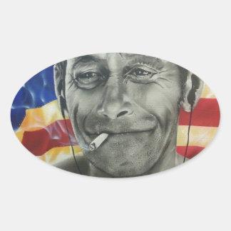 Homeless Veteran Oval Sticker