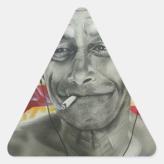 Homeless Veteran Triangle Sticker