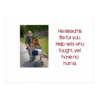 Homeless Vietnam Vet Postcard
