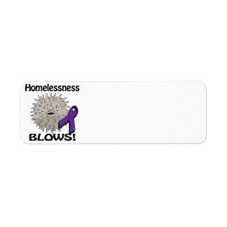 Homelessness Blows Awareness Design Return Address Label