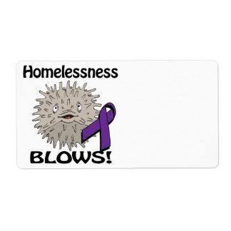 Homelessness Blows Awareness Design Shipping Label