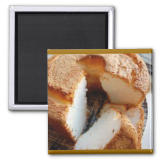 Homemade Angel Food Cake 2 Inch Square Magnet