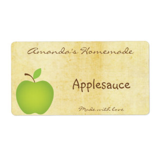 Homemade Apple Canning Label Shipping Label