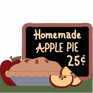 Homemade Apple Pie Country Apples Sculpture Magnet