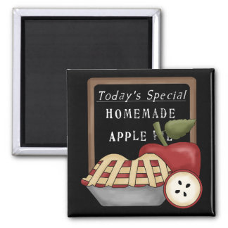 Homemade Apple Pie 2 Inch Square Magnet