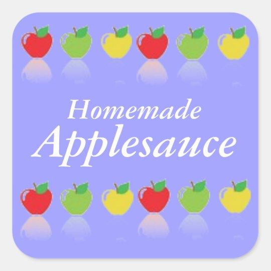 Homemade Applesauce Custom Canning Label