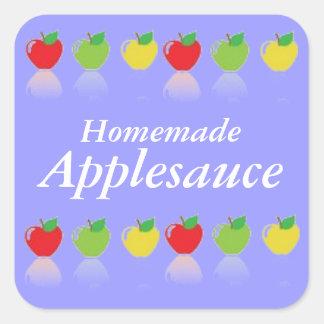 Homemade Applesauce Custom Canning Label Square Sticker