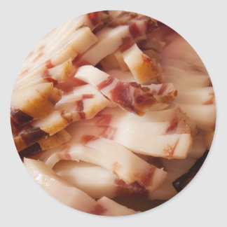 Homemade bacon classic round sticker