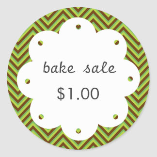 Homemade Bake Sale With Scalloped Edge Circle Classic Round Sticker