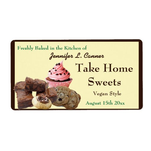 Homemade Baked Goods Assortment Packaging Shipping Label