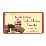 Homemade Baked Goods Assortment Poppy Red Edge Shipping Labels