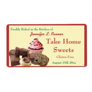 Homemade Baked Goods Assortment Poppy Red Edge Label