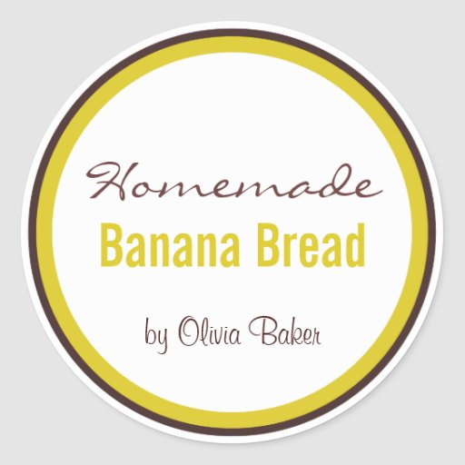 Homemade Banana Bread by Round Stickers