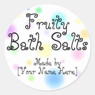 Homemade Bath Salts Customizable Labels Classic Round Sticker