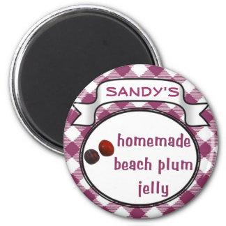 Homemade Beach Plum Jelly Fridge Magnet