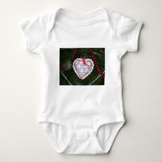 Homemade Blue Flower Print Heart Ornament T-shirt