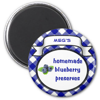 Homemade Blueberry Preserves 2 Inch Round Magnet