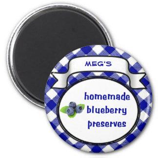 Homemade Blueberry Preserves Fridge Magnets