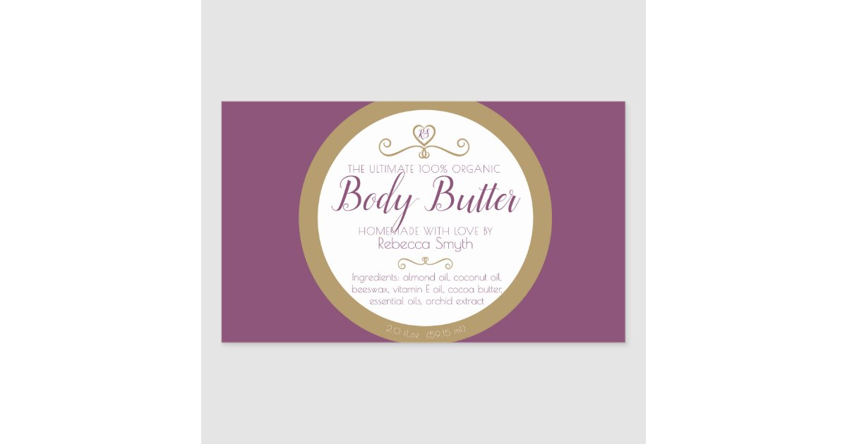 It's just a graphic of Epic Homemade Body Butter Labels