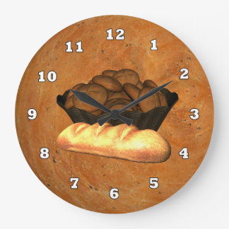 Homemade Bread Kitchen wall clock