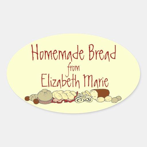 Homemade Bread-Personalize It Oval Sticker