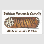 Homemade Cannoli Made Baked Personalized Stickers