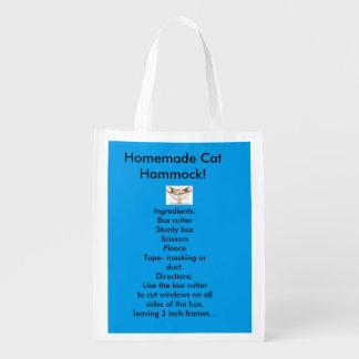 Homemade Cat Hammock Reusable Bag! Reusable Grocery Bag