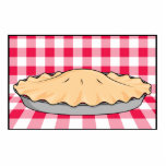 homemade cherry pie on checkered background acrylic cut outs