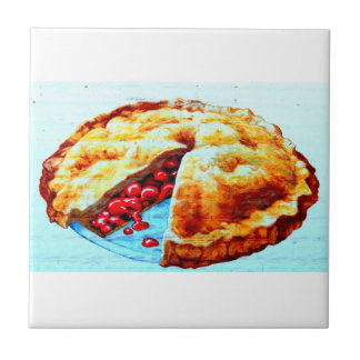 homemade cherry pie tile